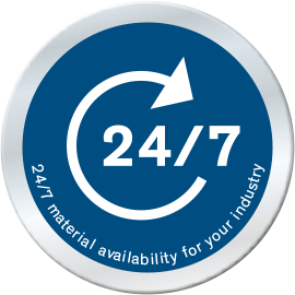 24/7 material availability for your industry